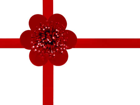 Red gift or present background, isolated over white - Christmas Stock Photo - 16390240
