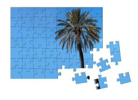 resolved: Holiday puzzle resolved - vacation concept Stock Photo