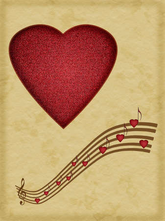 Music is the food of love - Valentine or wedding, love background