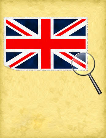 United Kingdom under the magnifying glass - UK history concept Stock Photo - 17052908