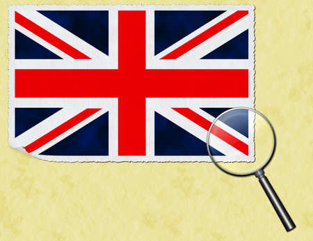 UK under the magnifying glass Stock Photo