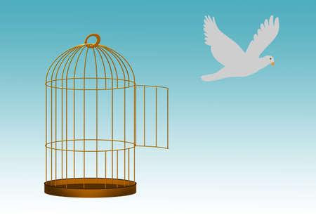 Freedom, imagination, escape - concept