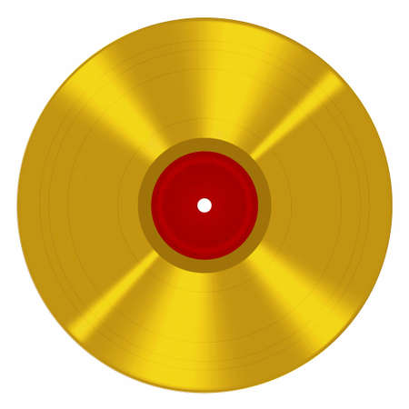 gold record: Gold music award style disc