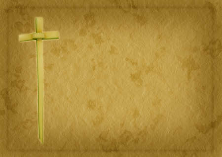 Palm Sunday or Easter religious Christian background Stock Photo - 17898226