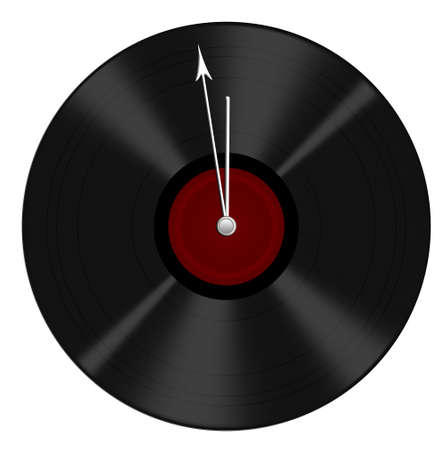 78 rpm: Recycled vinyl record now clock - times are a-changing