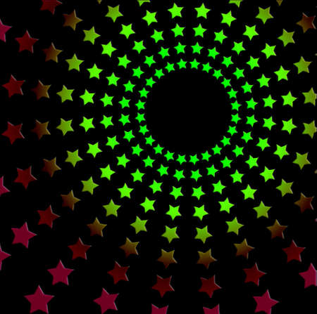 Retro seveties disco star background photo