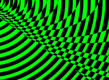 Jazzy green psychedelic pattern photo