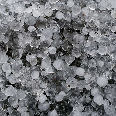 Hailstones aka hail background Stock Photo