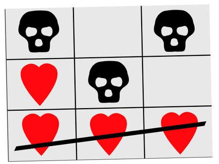 mortality: Love triumphs over death - conecpt, metaphor