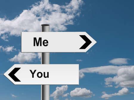 Separation of the ways - divorce, split concept