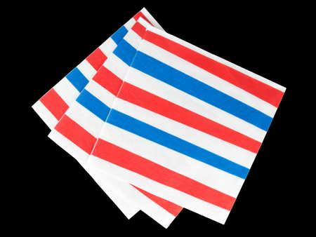 serviettes: Red white and blue stripes napkins, serviettes