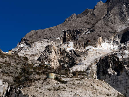 Marble quarry, industrial site Italy photo