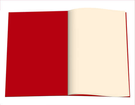 Open blank book, red cover Stock Photo - 20573664