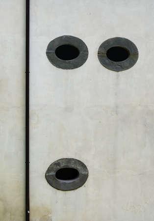 Old stone windows like face, eyes - architecture Stock Photo - 20573698