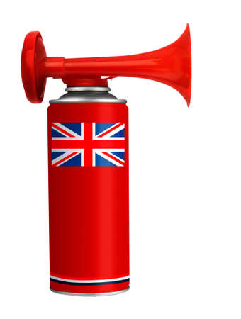 English, England air horn isolated - for fans, supporters photo