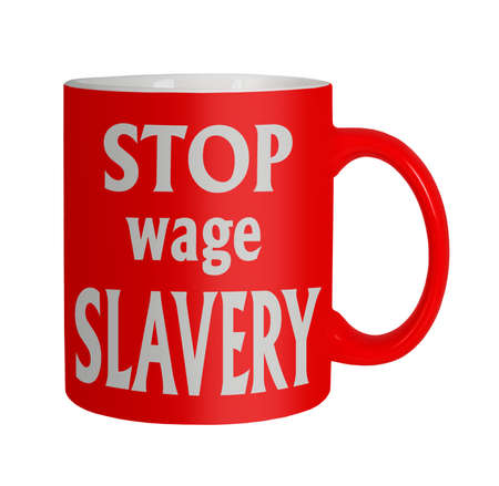 Wage slave unhappy staff, workers etc Stock Photo - 21593291
