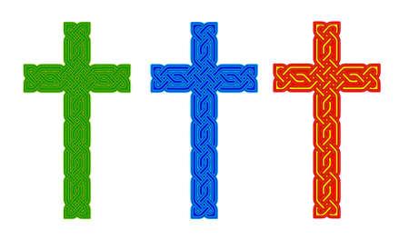 Croci celtiche knot stile, isolati Archivio Fotografico - 21919814