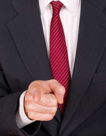 unfriendly: Bossy, bully etc - aggressive man pointing finger