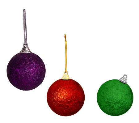 Christmas tree decorations - balls, baubles isolated photo