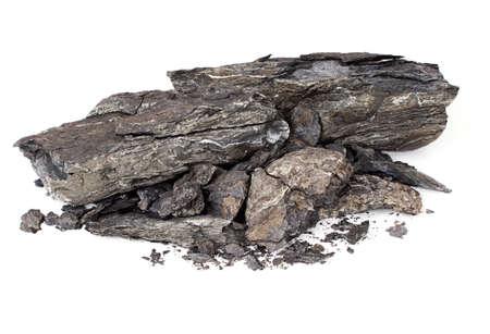 Shale rock aislado - controversial Foto de archivo - 22021790