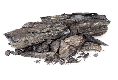 rock: Shale rock isolated - controversial