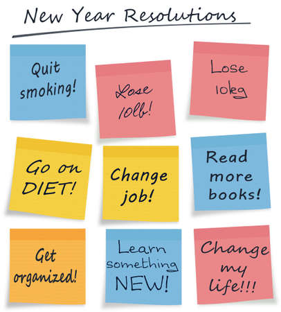 Assorted new year resolutions photo