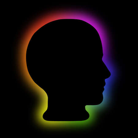 aura energy: Aura or energy field head in profile
