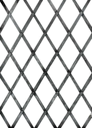 grill pattern: Diagonal iron bars, security grill