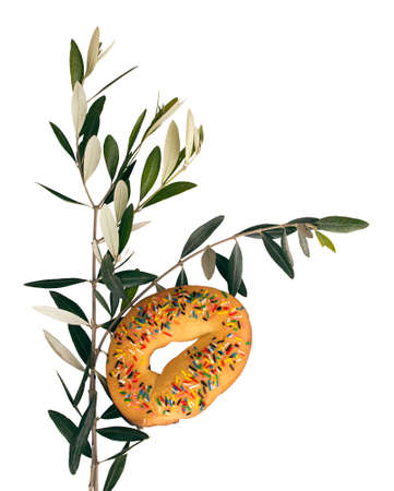 palm sunday: Palm Sunday - traditional cake for decorating and blessing the olive branches  Italy