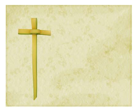 palm sunday: Palm Sunday background with cross Stock Photo