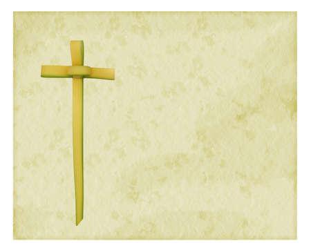 Palmzondag achtergrond met kruis Stockfoto