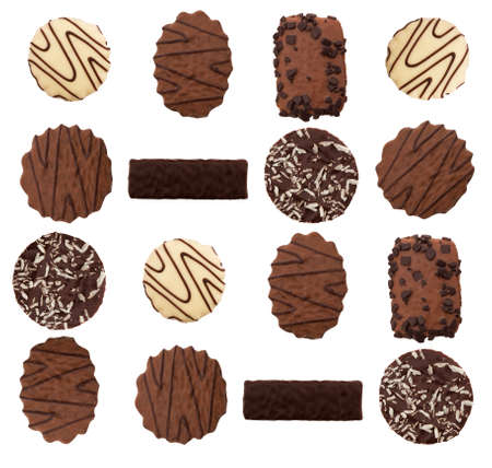 Chocolate biscuits photo