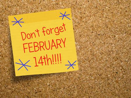 14th: D�a 14 de febrero de San Valent�n s recordatorio Foto de archivo