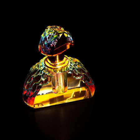 Beautiful retro perfume bottle, like jewel