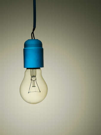 Vintage lightbulb - with poor wiring   photo