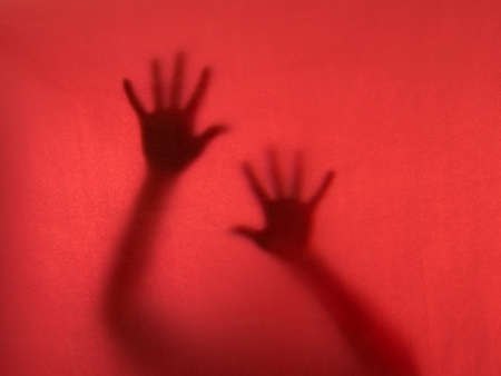 desperately: Desperation  Ghostly hands reach to the camera