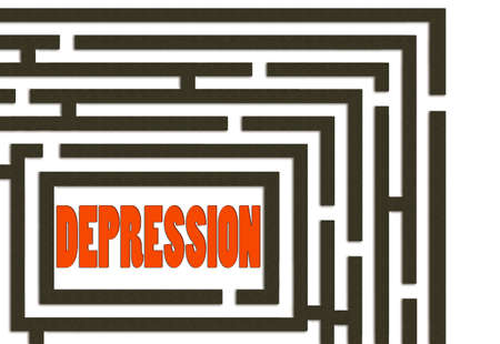 way out: Concept  Way out of depression