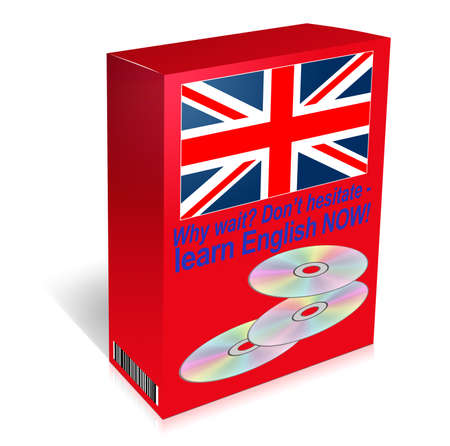 English language course in box  Essential in the modern world  photo
