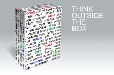 Business think outside the box  Creativity concept  photo