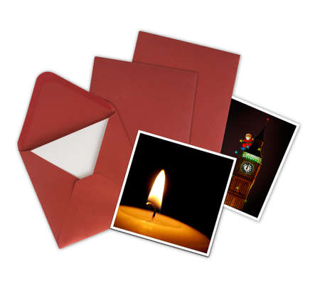 Christmas cards and envelopes. Note - my own card designs (available on this site) so ok for copyright. photo