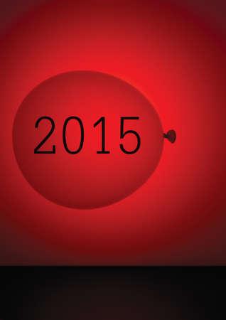 Generic calendar 2105 - cover. Red balloon. photo