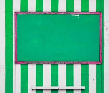 bedraggled: Seaside striped background. Green. Stock Photo