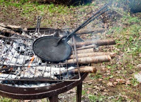 cian: Cokking cian. Tradition of Lunigiana, Italy. Photo November 2014.