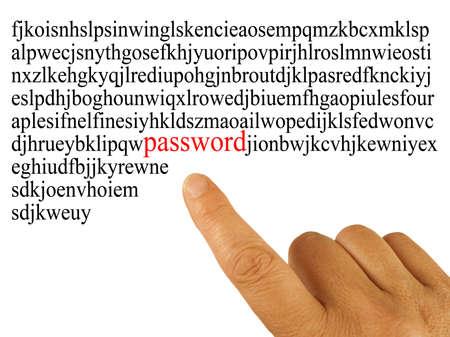 revoltijo: Concepto de seguridad de Internet, contrase�a revoltijo o letras