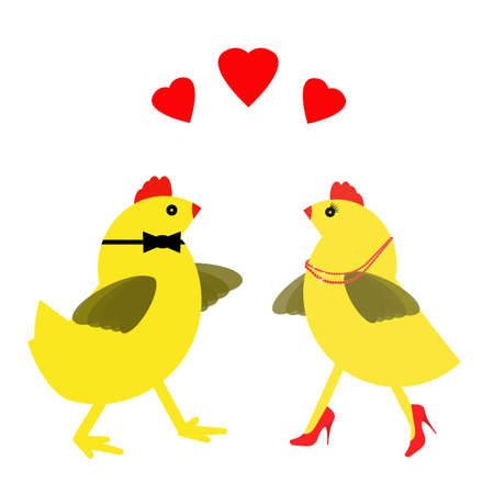 life partner: Love later in life. Spring chicken with partner. Stock Photo