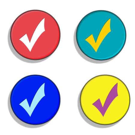 UK political parties, buttons. Conservatives, LibDems, Labour and UKIP.