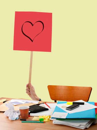 office romance: Office romance Stock Photo