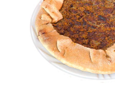 heathy diet: Home made healthy food. Torta di erbe. Italian, Lunigiana. Stock Photo