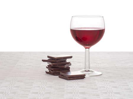 bebiendo vino: concepto de dieta saludable para el corazón.