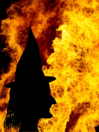 hag: Halloween. Real flames not real witch.